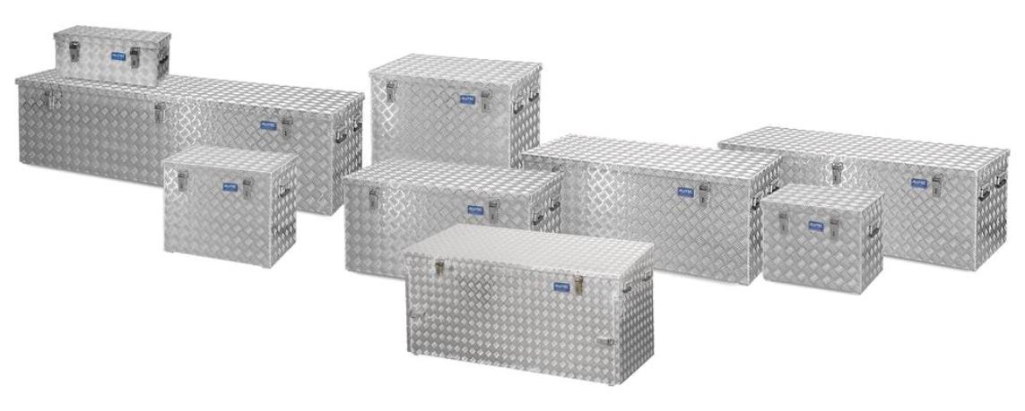 Transportkasser af aluminium