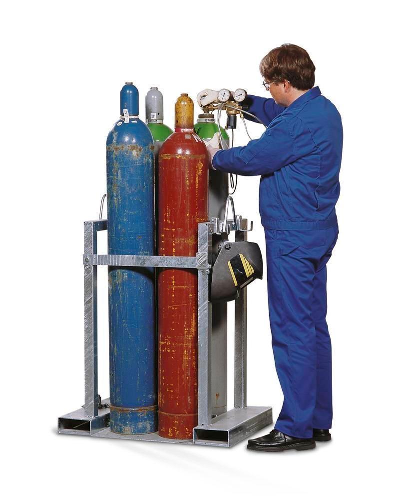 Stativ til transport af gasflasker