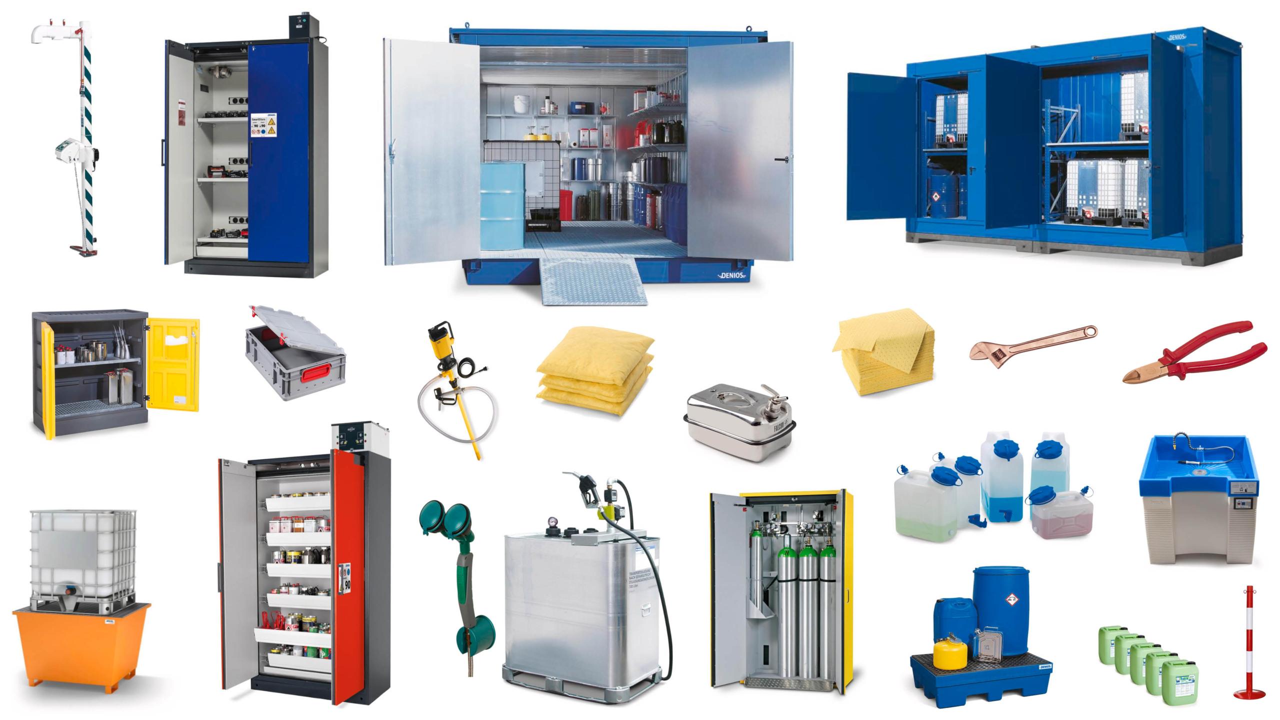 Udvalg af DENIOS' produkter..