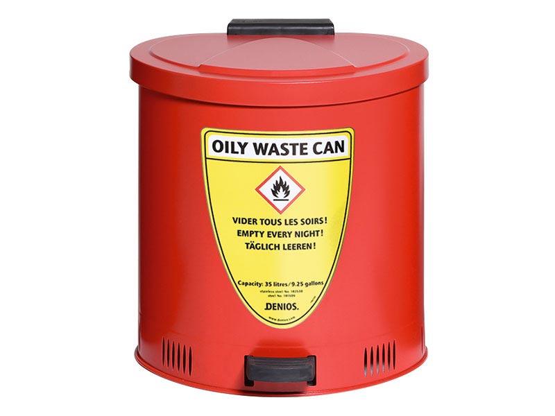 Selvslukkende affaldsspand