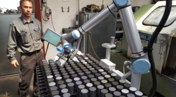 Robotarm effektiviserer produktionen